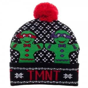 Ninja Turtles Gingerbread Ugly Sweater Beanie Hat